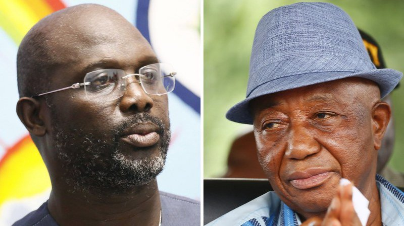 George Weah remporte le second tour de la présidentielle au Liberia face à Jospeh Boakai.