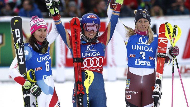 Ski - Slalom dames à Lienz: la Suissesse Wendy Holdener termine 2e, juste derrière Mikaela Shiffrin