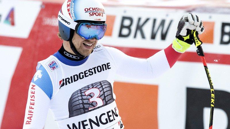 Ski alpin: Aerni sort en deuxième manche, Caviezel 6e, Murisier 7e, les Suisses ratent le coche au combiné de Wengen