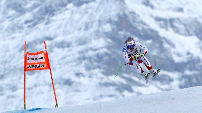 Ski alpin: les Valaisans Luca Aerni et Justin Murisier bien placés après la descente du combiné de Wengen
