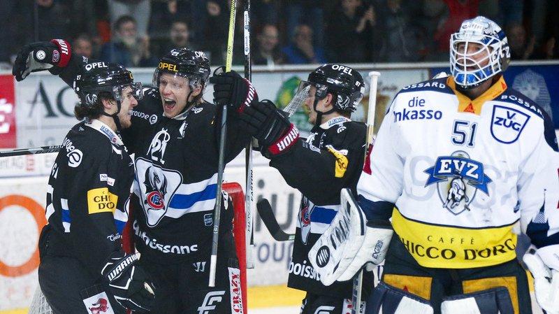 Fribourg Gottéron a écrasé 6-0 Zoug en Championnat de National League.