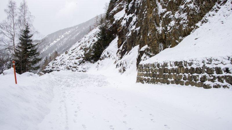 La route restera fermée jusqu'au début du mois de mars.