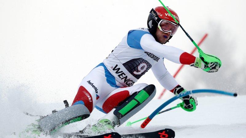 Justin Murisier, meilleur Suisse hier lors du combiné. Le Valaisan a pris le septième rang.
