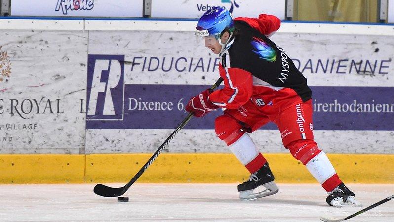 Romain Seydoux, joueur du HC Sion.