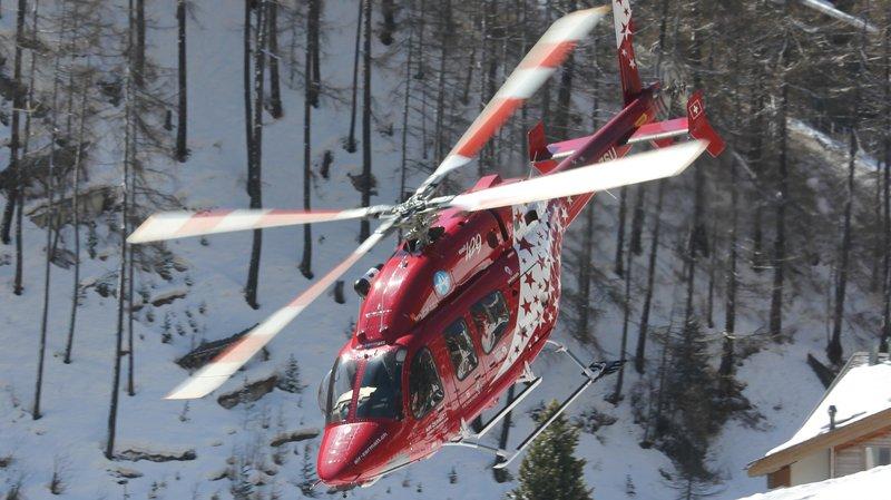 Les hélicoptères d'Air Zermatt sont intervenus 33 fois en quatre jours.