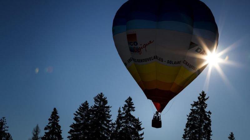 Les montgolfières ont pu voler dans le ciel bleu de Crans-Montana.