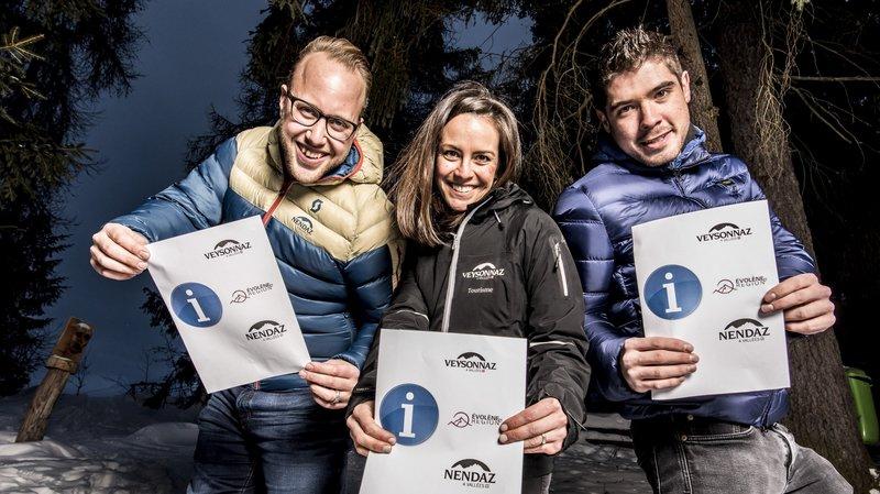 Baptise Constantin, Jasmine Ramondt-Fragnière et Dylan Métrailler incarnent le nouvelle génération des directeurs d'OT.