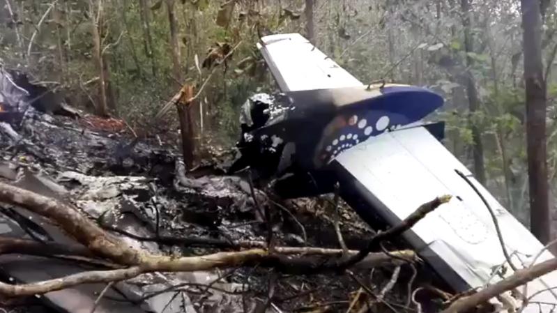 L'appareil s'est écrasé dans une région montagneuse.