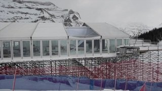 Ski alpin - Wengen (BE): Tempête et gros dégâts - Entraînement de descente annulé mardi