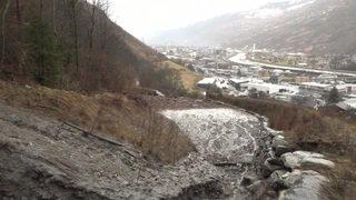 Valais: évacuation d'une partie du village d'Eyholz menacé par une coulée de boue