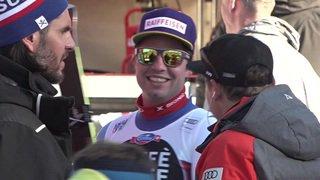 Ski alpin: réaction du président de la Confédération Alain Berset à la victoire de Beat Feuz