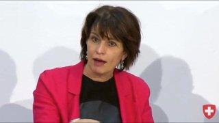La conseillère fédérale Doris Leuthard au chevet des routes du Locle