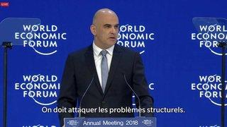 """Alain Berset au WEF: """"On doit choisir une politique de l'inclusion sociale"""""""