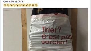 Taxe au sac: des sachets troués mis en vente
