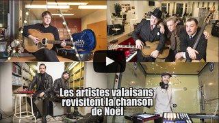 """Quatre artistes ou groupes valaisans revisitent la chanson de Noël au """"Nouvelliste"""""""