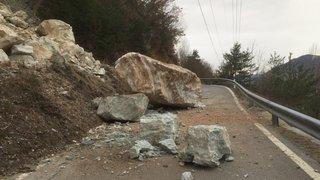 Eboulement: la route Chippis-Briey fermée