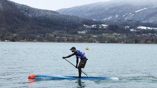Les glagladiateurs valaisans surpris par le vent sur le lac d'Annecy