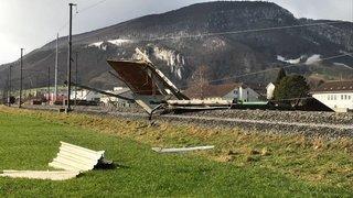 Soleure: Plus de train à cause d'un toit sur les voies CFF