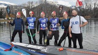 Stand up paddle: six glagladiateurs valaisans givrés se lancent à l'eau sur leurs planches
