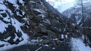Route de la Forclaz: l'éboulement atteint 5000m3 maintenant