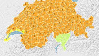 Météo: la tempête Evi balaie la Suisse avec des vents à plus de 160 km/h