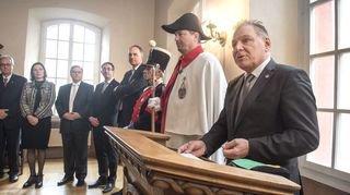Le Conseil d'Etat a officiellement lancé l'année 2018 en compagnie des autres pouvoirs valaisans