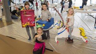 Les écoliers du Châble préparent leur Carnaval