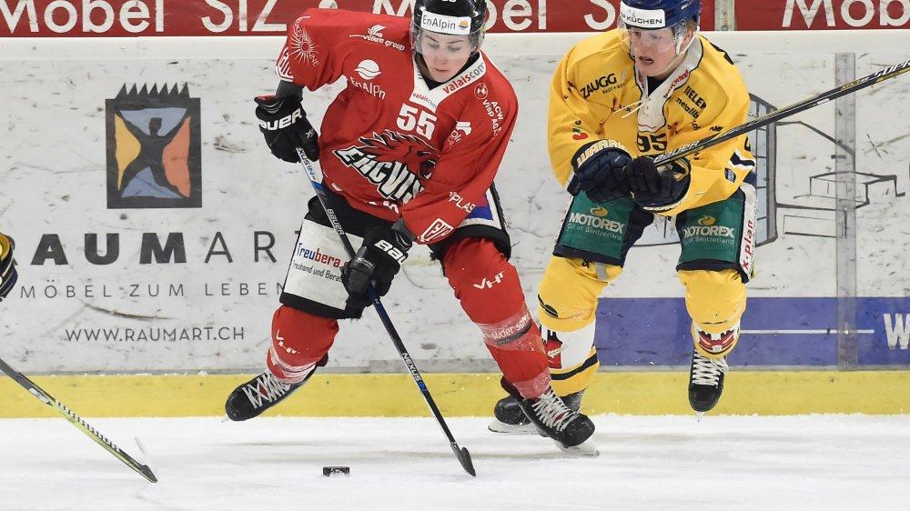 Le Viégois Dario Burgener est à la lutte avec Philip Ahlström. Ce dernier aura le dernier mot.