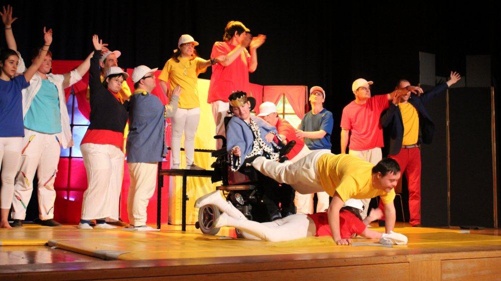 Douze personnes en situation de handicap participent au spectacle.