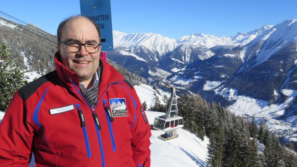 Valentin König, CEO d'Aletsch Bahnen, doit gérer une entreprise qui tourne 17 heures par jour.