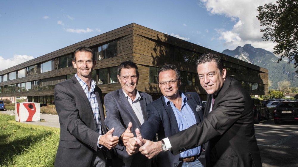 Laurent Lattion (Vionnaz), Reynold Rinaldi (Vouvry), Pierre Zoppellotto (Port-Valais) et Werner Grange (Saint-Gingolph) sont prêts à défendre leur projet d'association de communes pour le Haut-Lac.