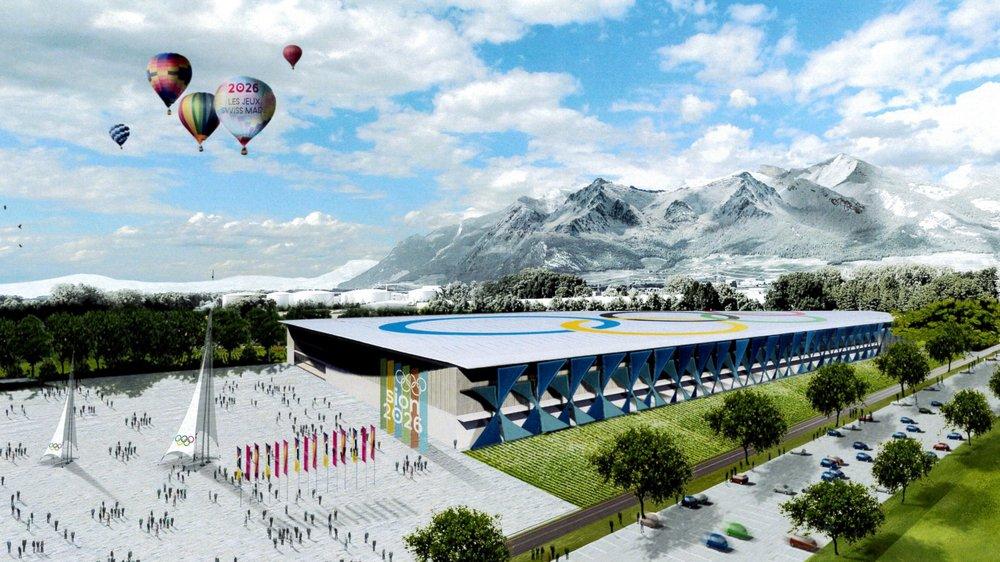 Projet de patinoire de vitesse sur une parcelle de la zone industrielle d'Aigle.