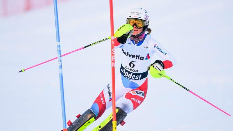 Ski alpin: la Suissesse Aline Danioth remporte le combiné des Mondiaux juniors à Davos