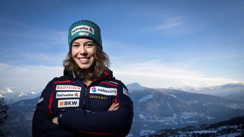 Michelle Gisin a déjà eu l'occasion de célébrer son sacre olympique.