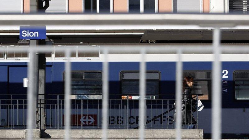 CFF: les trains circulent à nouveau en gare de Sion