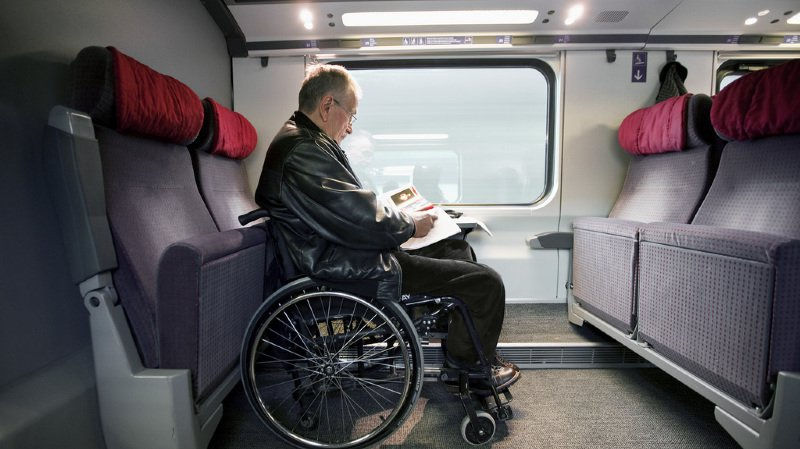 Les nouvelles rames CFF ne sont pas adaptées aux personnes à mobilité réduite.
