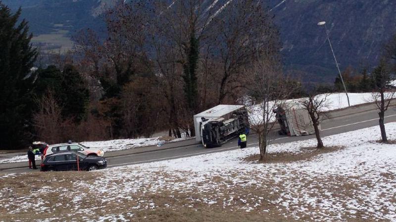 L'accident a eu lieu entre Mollens et Venthône.