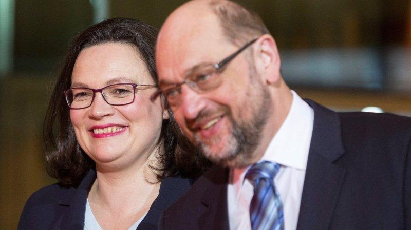 Martin Schulz entend léguer la présidence du SPD à Andrea Nahles, actuelle présidente du groupe  parlementaire du parti.
