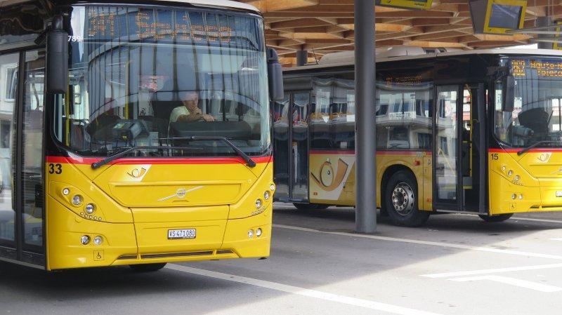 Deux bus par heure circulent entre Sion et Savièse matin, midi et soir.