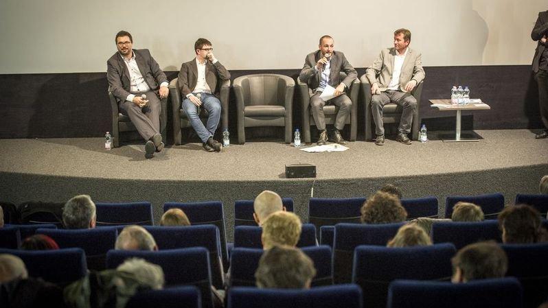 Les Rencontres du Nouvelliste avec Jérôme Desmeules,député UDC, Frédéric Jollien, membre JLR, Mathias Reynard, conseiller national PS et Vincent Bornet, directeur de Canal9.