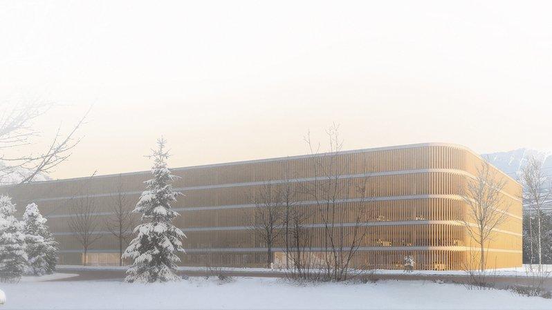 Hôpital de Sion: les travaux du futur parking couvert démarrent
