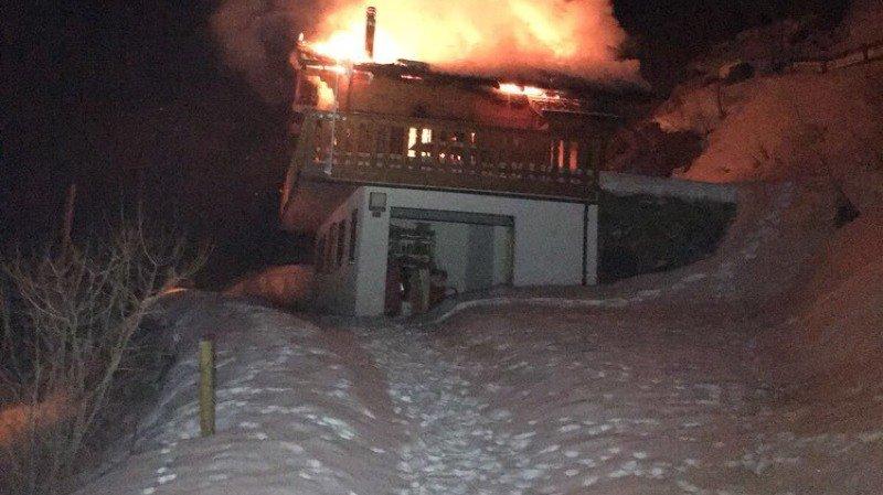 Incendie dans un chalet à Haute-Nendaz