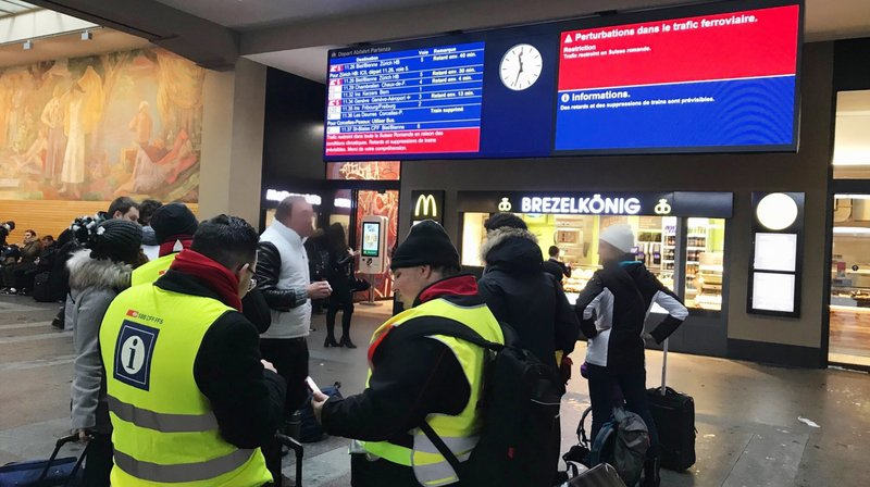 Le dérangement du trafic ferroviaire en gare de Neuchâtel a été levé
