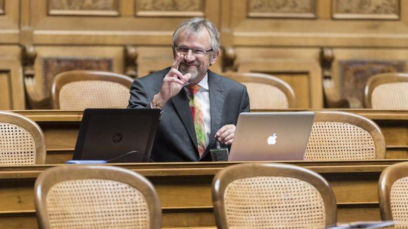 Benjamin Roduit, faisait lundi ses premiers pas de conseiller national à Berne.