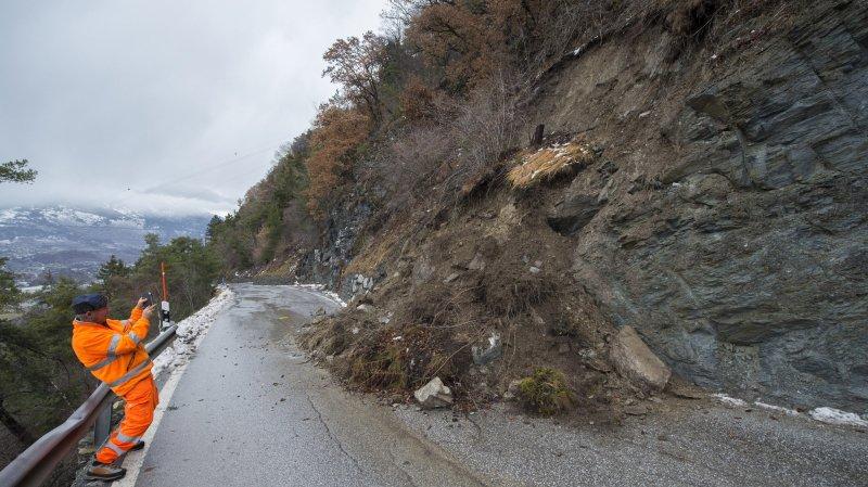 Bilan des intempéries: des dégâts par dizaines de millions sur les routes en Valais
