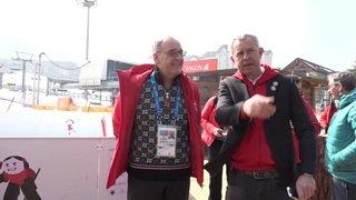 JO2018: Heidi et des jodleurs saluent Guy Parmelin à Pyeongchang