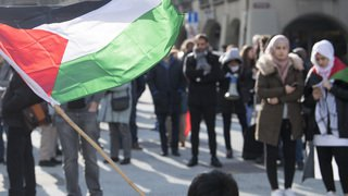 Berne: 350 personnes défilent pour apporter leur soutien à la Palestine