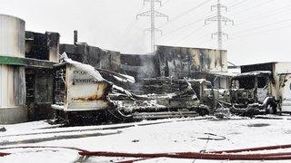 Sion: 21 emplois menacés après l'incendie qui a détruit la halle industrielle de la société Blanchival