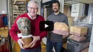 L'EPFL Valais fait revivre un buste de l'écrivain Maurice Zermatten