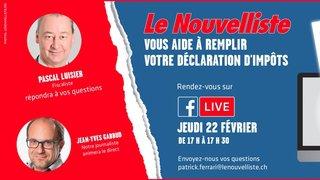 Déclaration d'impôts: le Nouvelliste avec un fiscaliste en Facebook live jeudi pour vous aider à remplir votre déclaration